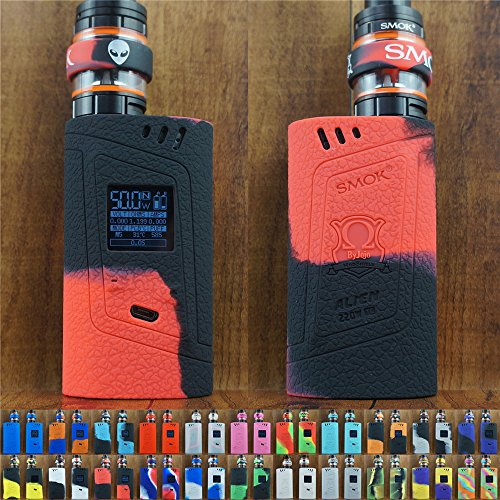 - ModShield for Smok Alien 220W TC Silicone Case & TANK BAND ByJojo Skin Cover Sleeve Wrap Shield (Red/Black)