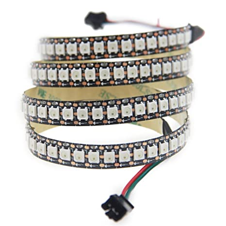 san francisco 02b96 ded0a Aclorol WS2812B 144 Pixels Individually Addressable RGB LED Strip 5V, 3.3ft  Programmable WS2812B WS2812 1M 144 LEDs Dream Color Strip Lighting ...