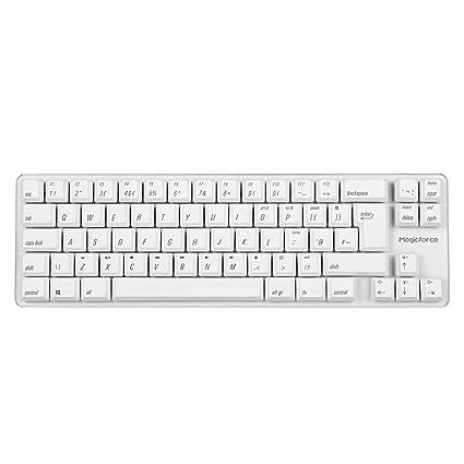 bc9ac315d40 Qisan Wired Mini Mechanical Gaming Keyboard PBT Keycaps 69 Keys Gateron Red  Switch White Backlit British
