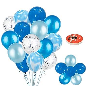 Kreatwow Set de Globos de cumpleaños Azules Decoraciones ...
