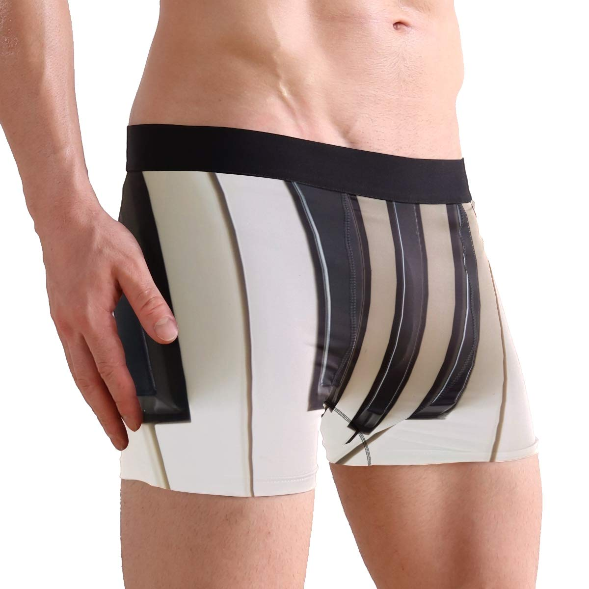 Jereee The Old Piano Pattern Mens Underwear Soft Polyester Boxer Brief for Men Adult Teen Children Kids S