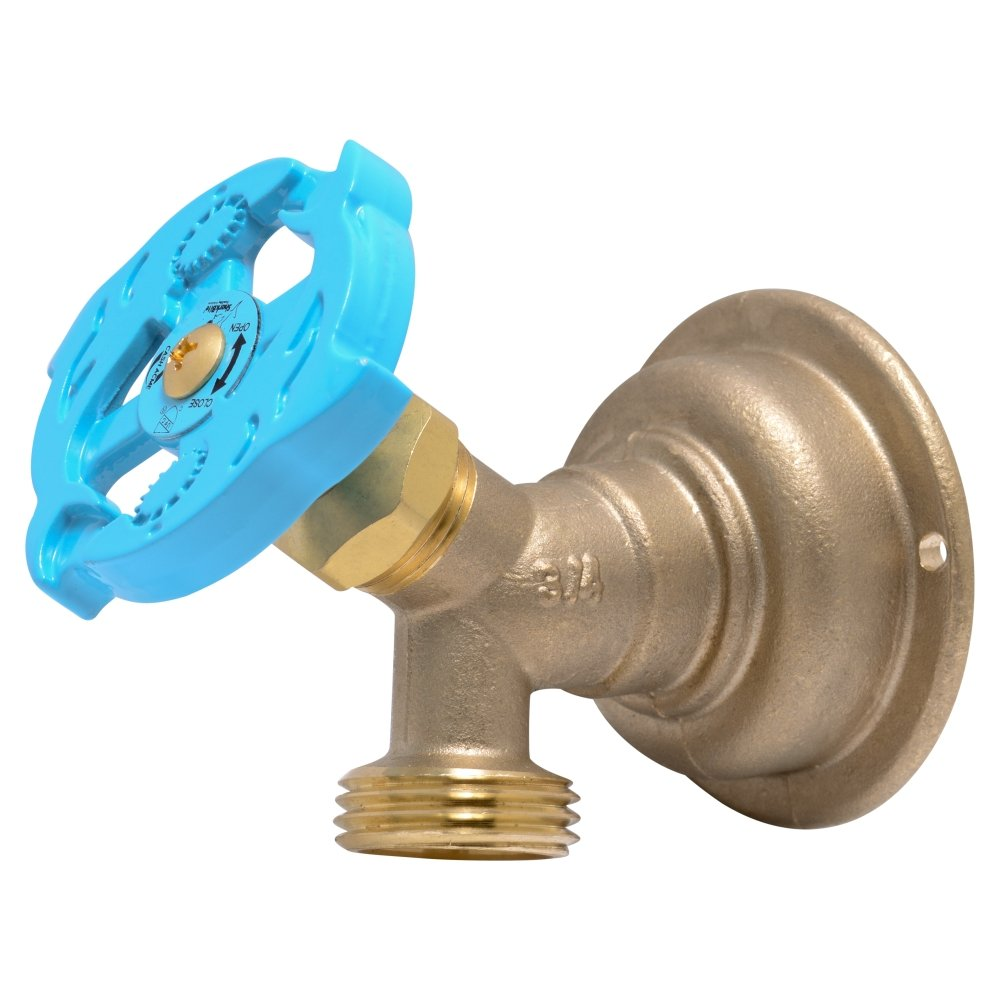 SharkBite 24627LFA Hose Bibb 90 Degree, 3/4 Inch x 3/4 inch Water Valve Shut Off, MHT Multi Turn, Push-to-Connect, PEX, Copper, CPVC, PE-RT