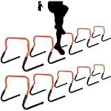 ASENVER Adjustable Height Hurdle Agility Training Hurdle Set of 5 Set of 10