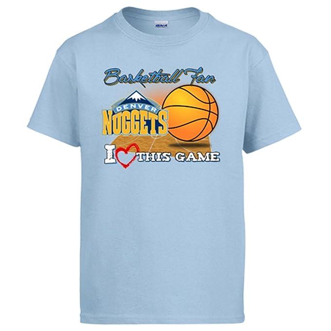 2a3442605 Camiseta NBA Denver Nuggets Baloncesto Basketball Fan I Love This Game   Amazon.es  Ropa y accesorios