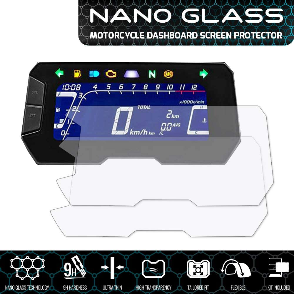 2018+ CB300R x 2 Speedo Angels Nano Glass Displayschutz f/ür CB125R