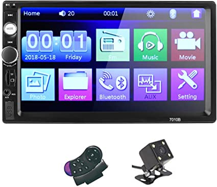 7/'/' Double Din HD Car Touch LCD Screen Stereo Audio Radio MP5 Player Bluetooth