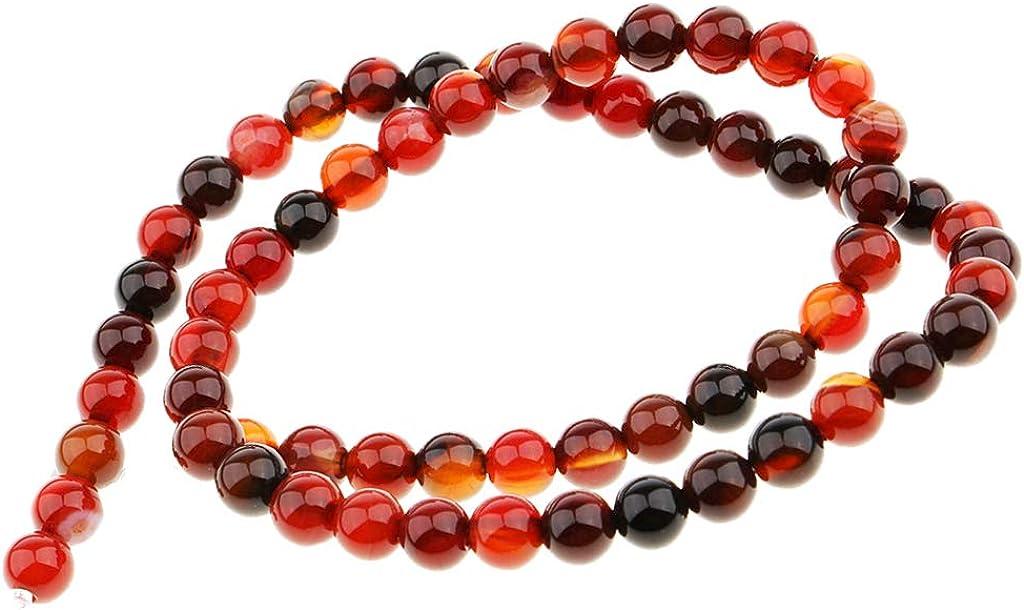 Anello MagiDeal Stringa di Perle Rotonde in Pietra Naturale Accesorio Fai da Te per Bracciale Collana