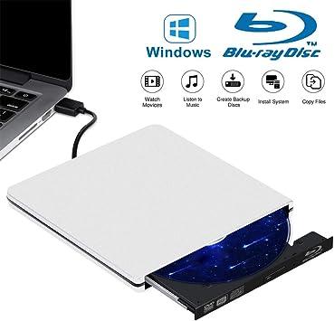 Tokenhigh Blu Ray 4K 3D Grabadora CD/DVD Externa, Lector de DVD/CD Externo, Grabador de Unidad de DVD Blu Ray Externo, Unidad Externa Portátil USB 3.0 Reproductor de BD/CD/DVD RW Delgado: Amazon.es: Electrónica