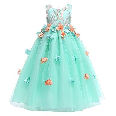 Baby Mädchen Kleid Prinzessin Festkleider Geburtstag Partykleid Kommunionskleid