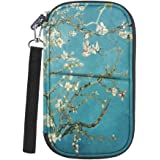 Family Passport Holder, Fintie RFID Blocking Zipper Case Document Organizer, Blossom
