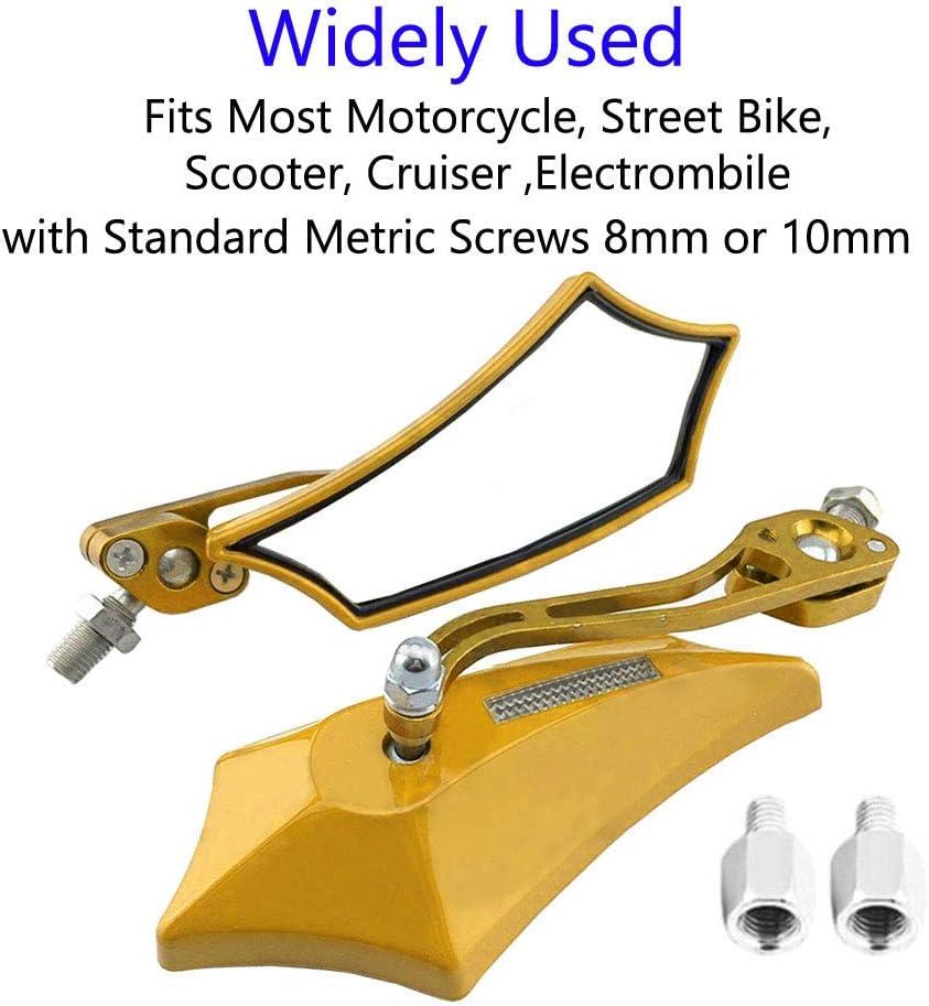 10mm bicyclette Mintice violet Universel r/étroviseur lat/éral de moto miroir scooter 8