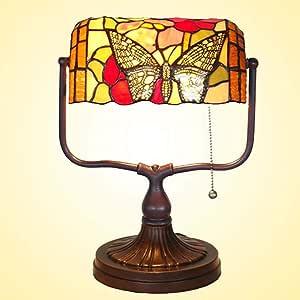 GGPUS Lámpara de Mesa Estilo Tiffany de 13 Pulgadas, lámpara de ...