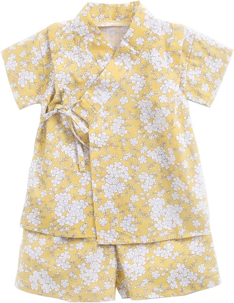 Amooy DiZi Baby Boys Girls Japanese Kimono Jinber Kids Romper Bodysuit Clothes Shirt+Pants Outfits Pyjamas Colthes 2Pcs//Set