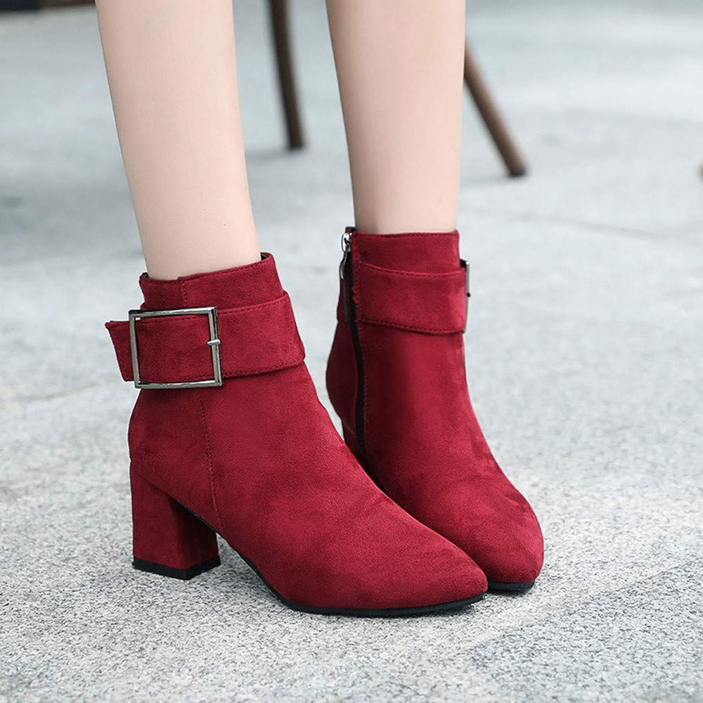a03b1af8826d96 Boots Femme Daim Bottine Femmes Plates Basse Cuir Bottes Chelsea Chic  Compensées Grande Taille Talon Chaussures
