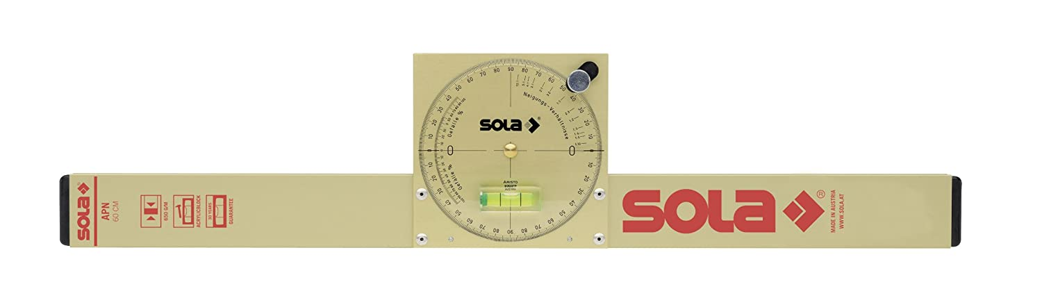 NAM 50 T Sola Magnetic Analog Inclinometer w//Carry Bag