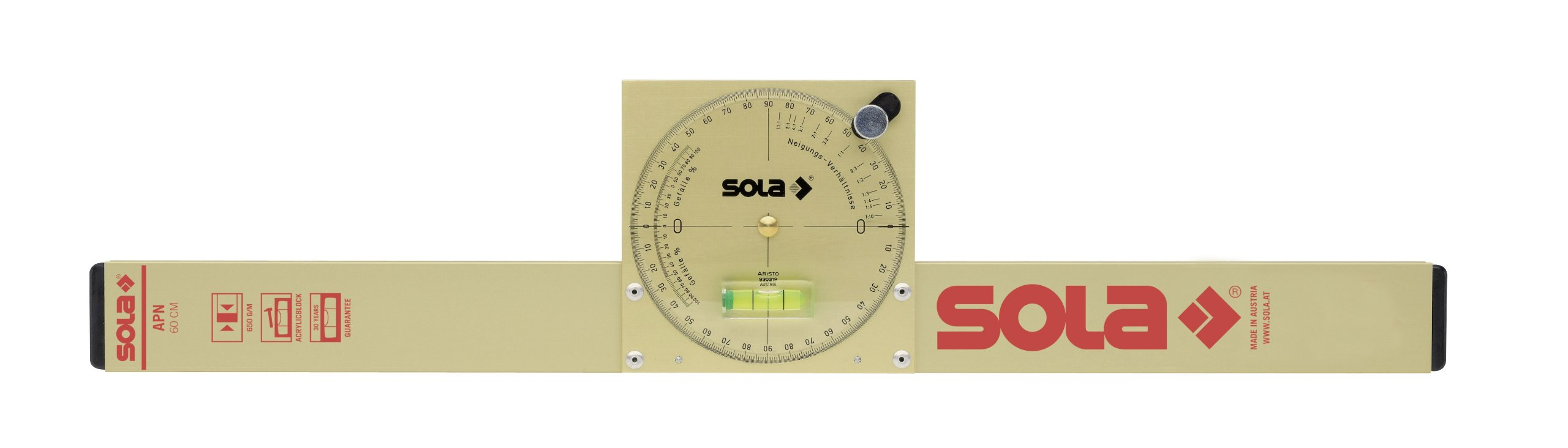 Sola Magnetic Analog Inclinometer w/Carry Bag - NAM 50 T by Sola Levels