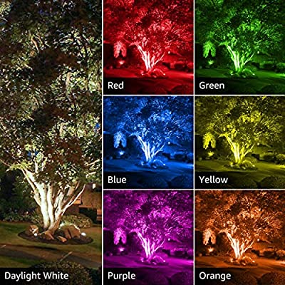 LE RGB Flood Lights, Outdoor LED Floodlight, 50W Stage Lighting, Waterproof, Plug in Security Light with Remote Control, for Home, Backyard, Patio, Garage, Tree, Pack of 2