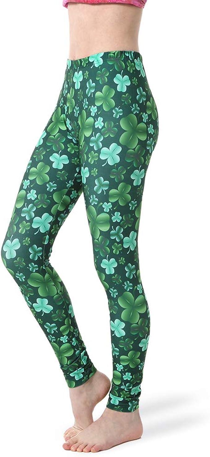 Alexandra Collection - Leggings para Mujer, diseño de trébol de ...