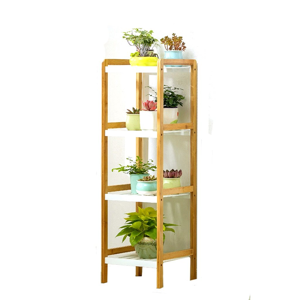 Lan-i Flower Stand Pot Rack Shelf Bamboo Indoor Multilayer Balcony Living Room Scaffale Porta-fiori (dimensioni   Four-tiered)
