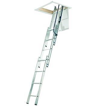 Ordentlich WorldStores Dachboden-Leiter, 12 Sprossen, 3 m, Aluminium, 3  VD14