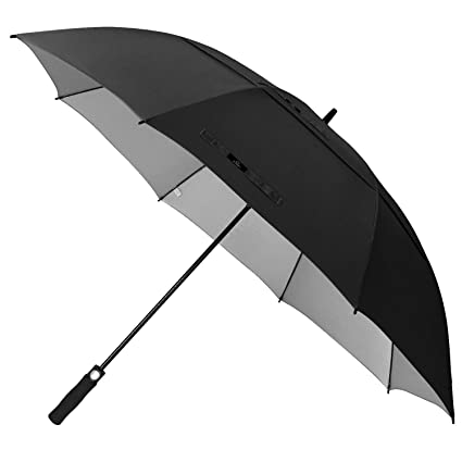 bef1d2313c39 Prospo 62/68 inch UV Protection Snow Large Oversized Golf Stick Umbrella  Auto Open Double Canopy Vented Windproof Waterproof Cane Umbrellas