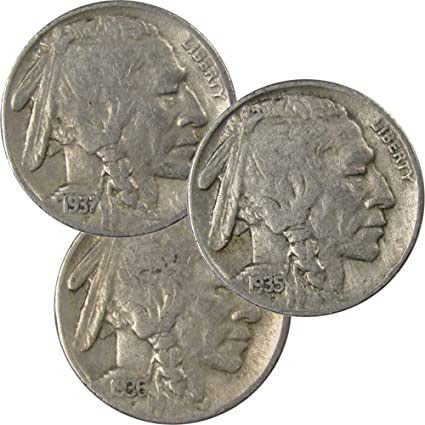 """1937 D INDIAN HEAD /""""BUFFALO/"""" NICKEL  *GOOD OR BETTER*  **FREE SHIPPING**"""