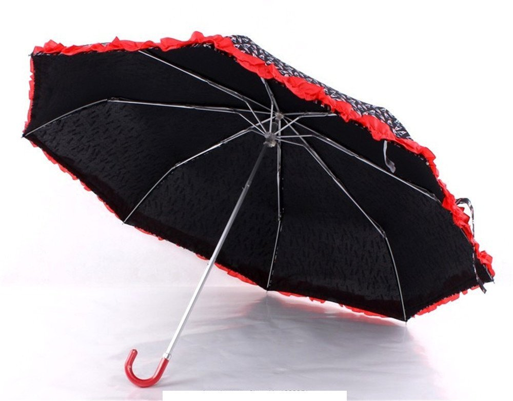 Amazon.com : Katoot@ 2016 new Spain order ultra light lipstick 3 fold manual umbrella rain sun women, novelty items plegable paraguas de mujer : Garden & ...
