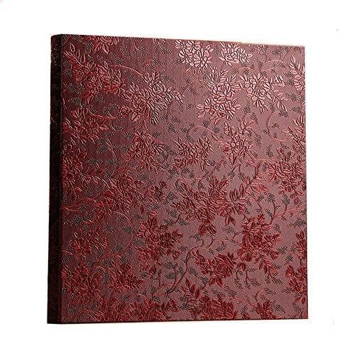 Ksmxos - Álbum de Fotos (Capacidad para hasta 600 Fotos, 4 x 6 Fotos), Color Rojo