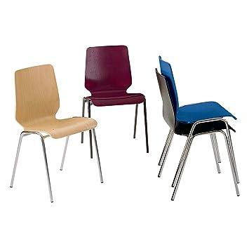 chaise coque en bois assise et dossier dun bloc pitement peint - Chaise Coque
