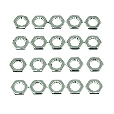 Wheel Masters 9022-20 Nickel Plated Hardware Nut - Pack of 20: Automotive