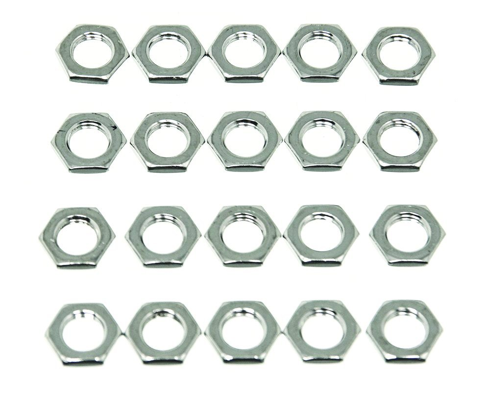 Wheel Masters 9022-20 Nickel Plated Hardware Nut - Pack of 20