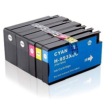 Labelwell 953XL 953 XL Cartuchos Tinta Compatible para HP ...