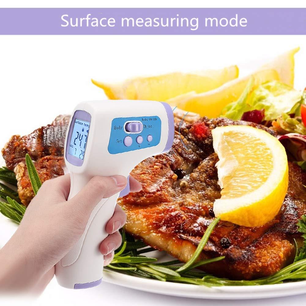 WeiJX Infrarot-Thermometer Pistole Ber/ührungsloses Temperaturmessger/ät Kopfthermometer mit Fiebermelder f/ür Babys Kleinkinder Kinder oder Erwachsene Kleinkinder