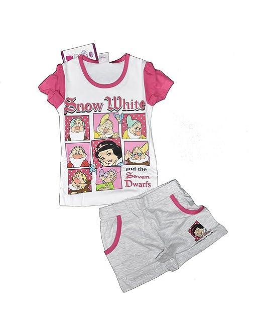 Disney Completo Pigiama Bambina Estivo Biancaneve e i sette nani:  Amazon.it: Abbigliamento