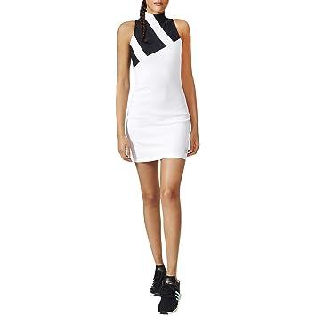 Adidas Mesh Dress Vestido, Mujer, (Blanco/Negro), 44