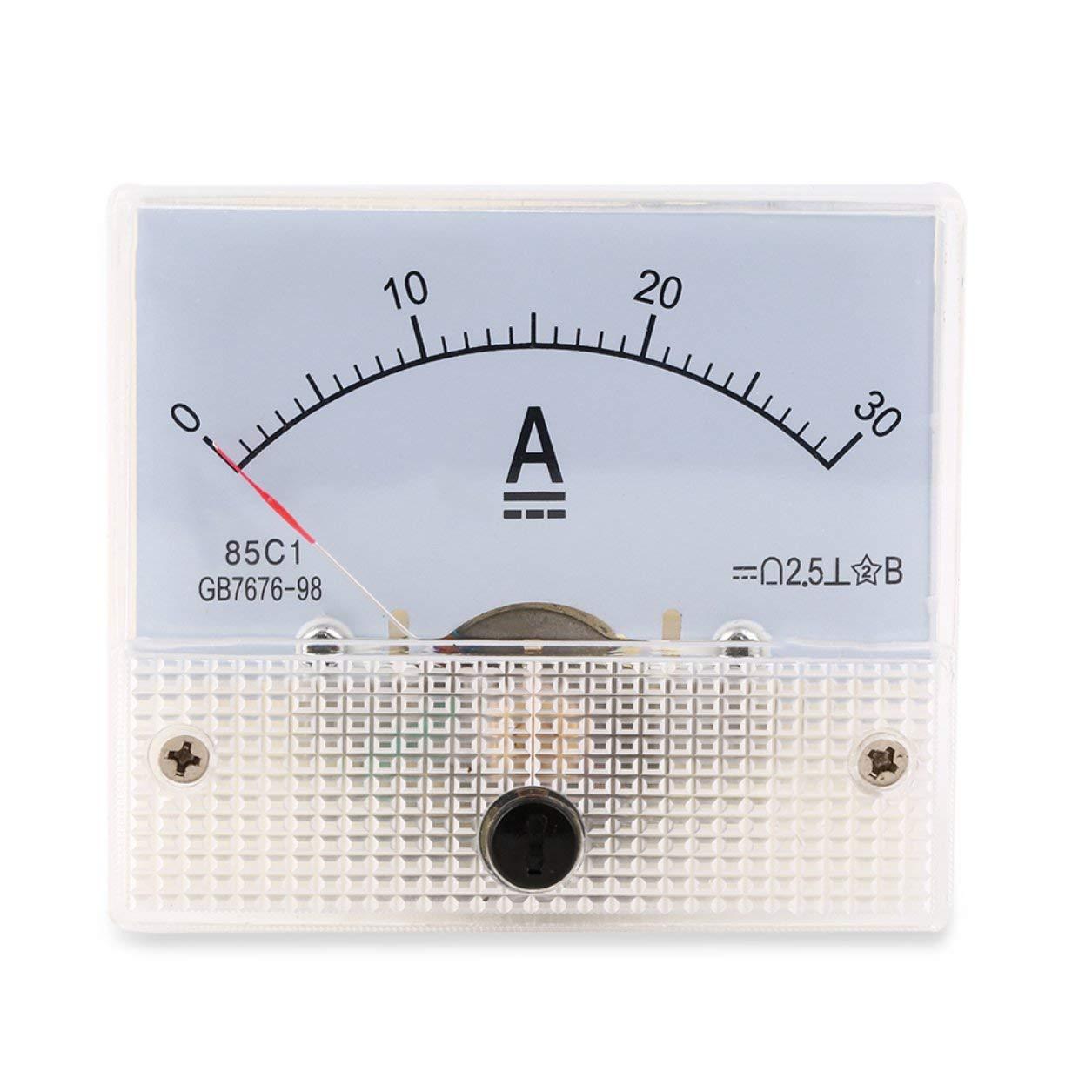 Dailyinshop DC 30A analogico Amperometro Panel Meter analogico Corrente 0-30A Pannello amperometro