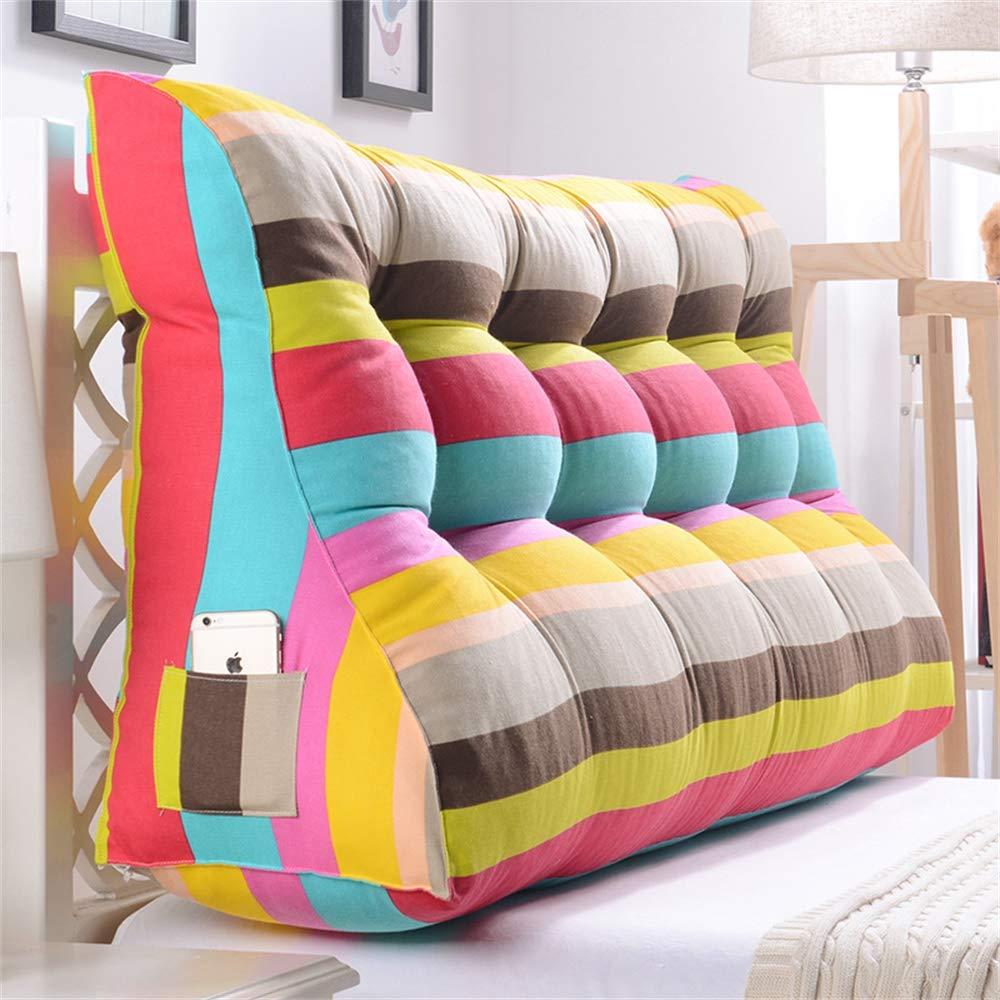 GLP ベッドサイドクッション三角背もたれ腰のソファ大きな枕張りパッド22色&8サイズで取り外し可能 (Color : R, Size : 180x30x60cm) B07RVBV5GQ