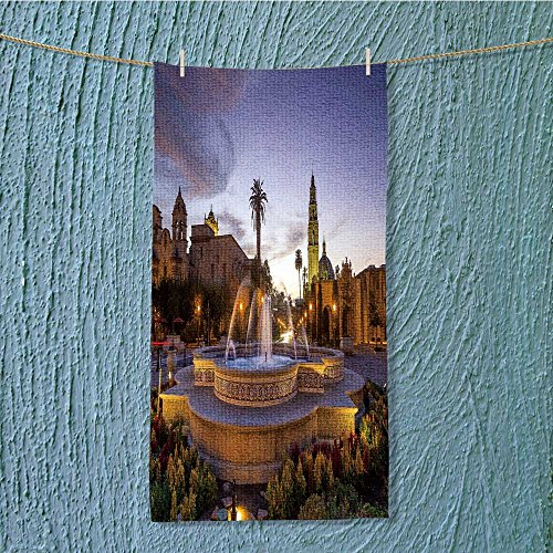 (L-QN lightweight towel san diego s balboa park at twilight in san diego california for Home, Hotel and Spa W35.4 x H11.8)