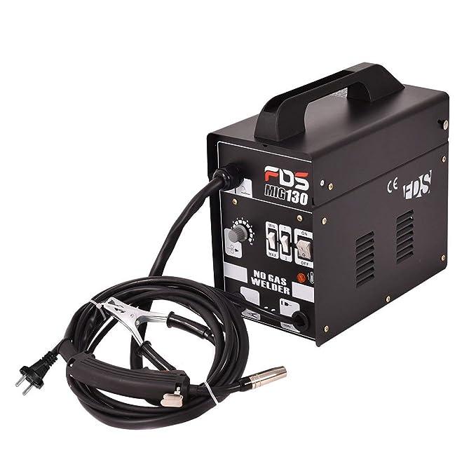 COSTWAY Máquina de Soldadura FLUX Gas Inerte MIG 130 Electrodos Soldador (Negro): Amazon.es: Bricolaje y herramientas