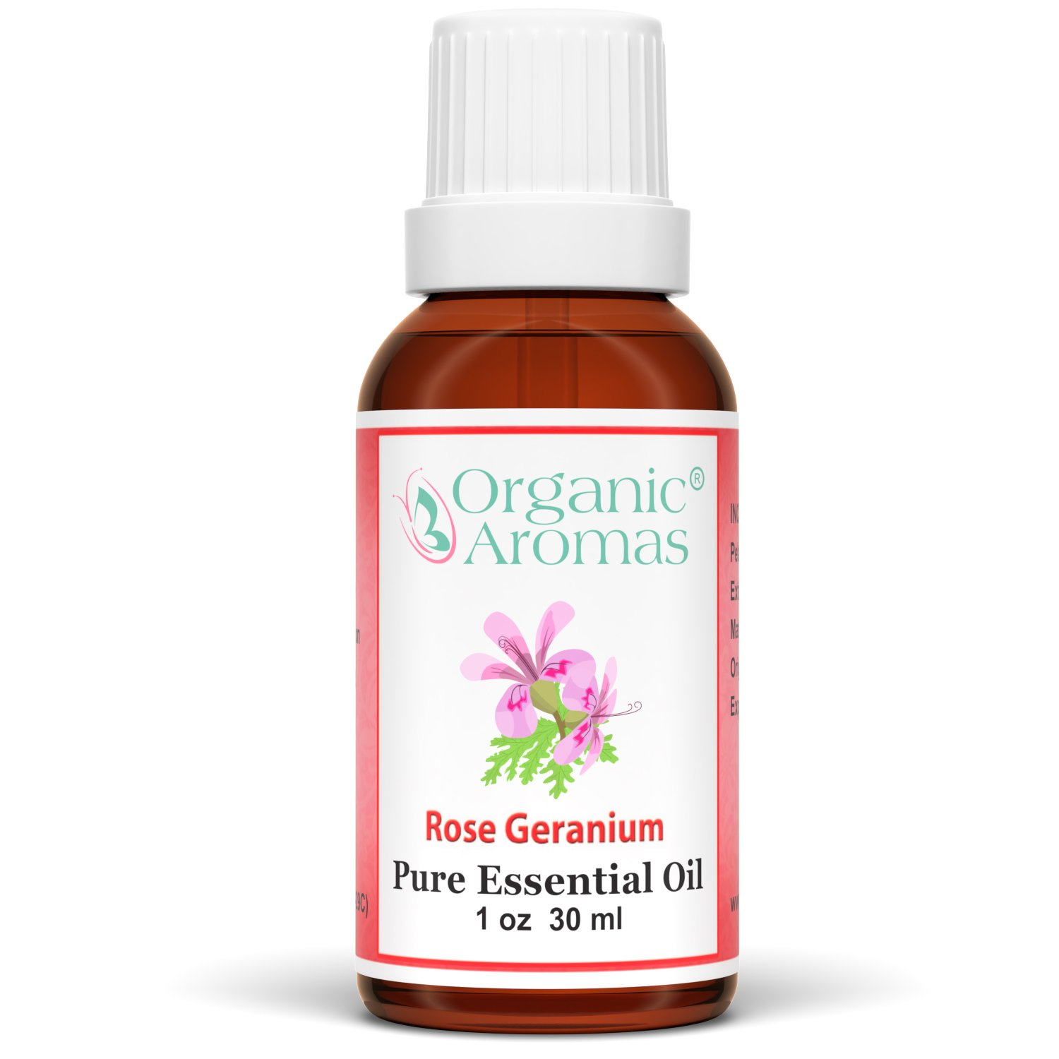 Rose Geranium Essential Oil 100% Pure for Professional Aromatherapy - Therapeutic Grade - Works well with Organic Aroma Diffusers - 30 ml bottles
