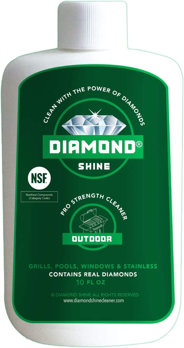 Diamond Shine Outdoor 10 oz Commercial Professional Cleaner Hard Water Remover Stainless Steel Cleaner Grills BBQ Garden Tools Door Knobs Patio Furniture Ceramic Tile Brass Rust Remover