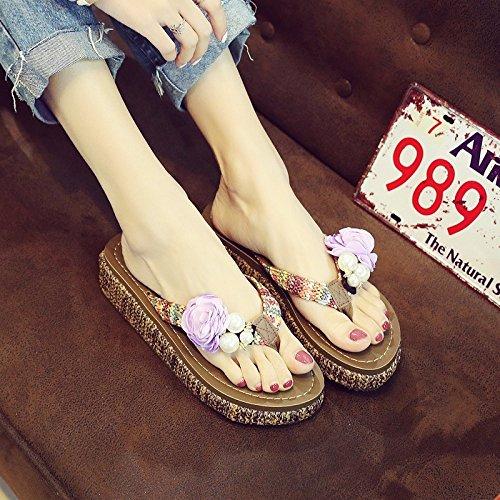 zapatillas señoras verano Lila verano zapatos Flops zapatillas sandalias Flip AvxT0Rc