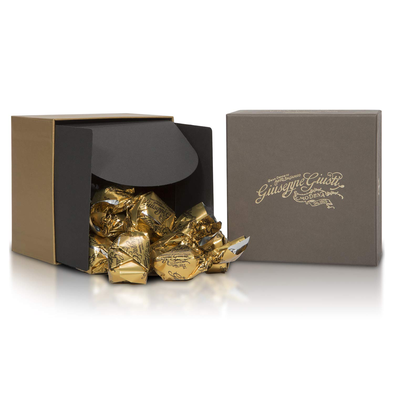Giuseppe Giusti - Cioccolatini Italian Dark Chocolates with Balsamic Vinegar of Modena 3 Medals - Unique Gourmet Gift for Foodies in Gift Box