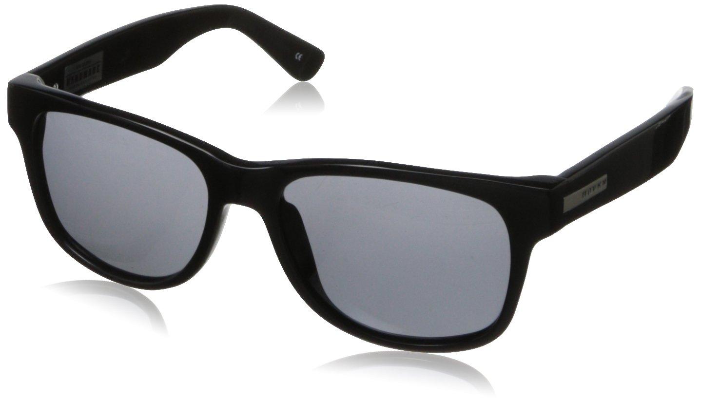 Hoven Big Risky 39-0102 Polarized Wayfarer Sunglasses,Black,55 mm