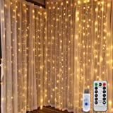 Amazon Com Le 10ft 306 Led Curtain Lights 8 Modes Plug