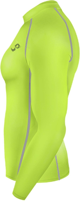 New 136 Green Skin Tights Compression Base Layer Long Sleeve Mens T Shirt