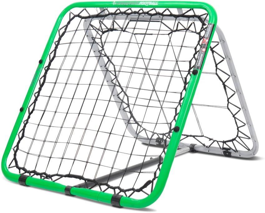 Crazy Catch - Red de rebote para fútbol, doble cara, calidad premium, rebote errático, ayuda para entrenar, voleys, primer toque, cabezas y porteros