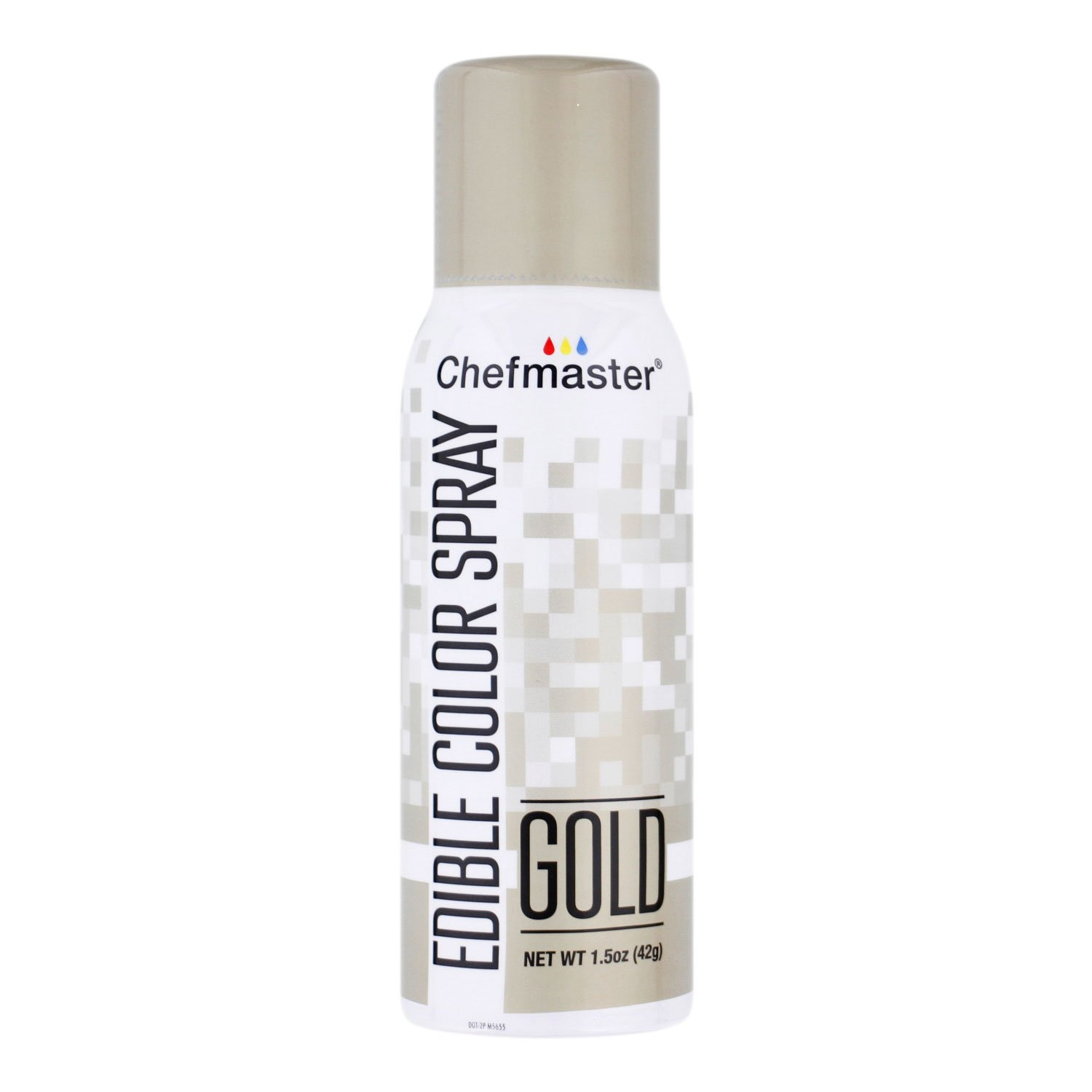 Chefmaster Edible Spray Cake Decorating Color 1.5oz Can - Metallic Gold by Chefmaster