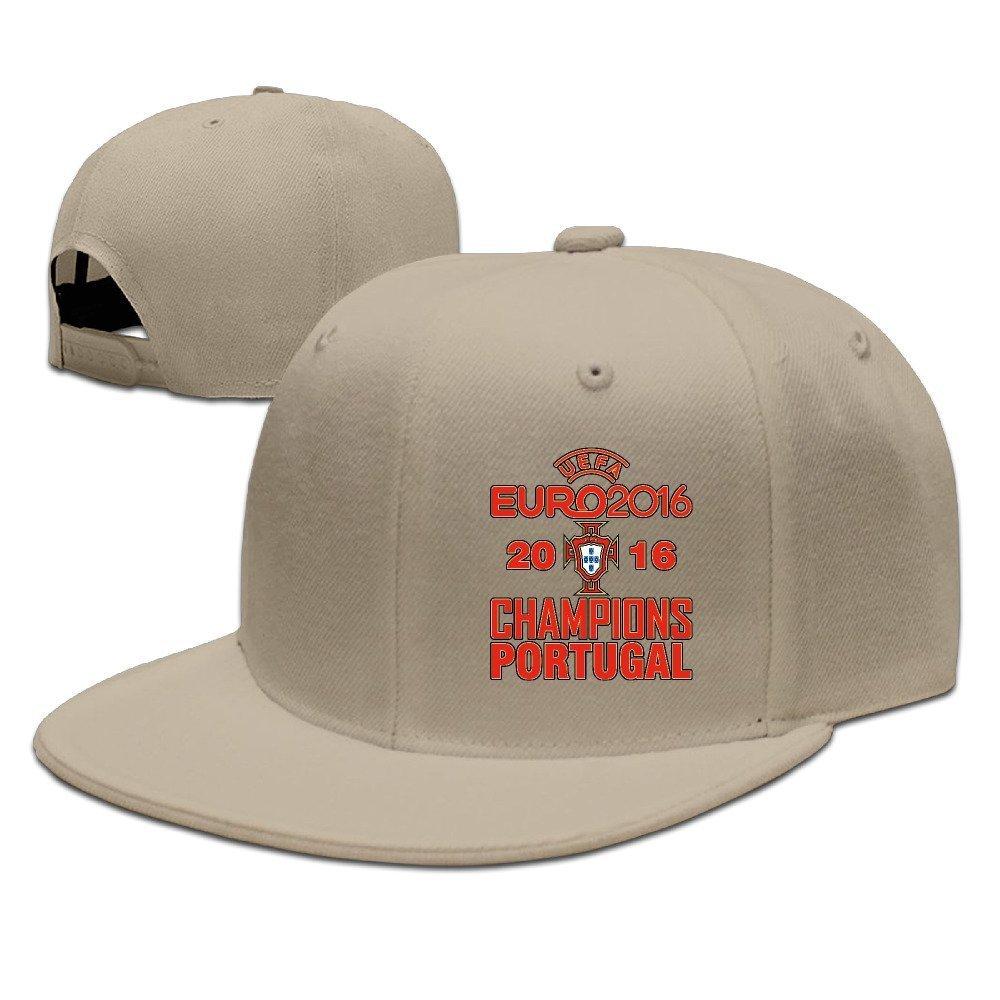 YhsukRuny Portugal 2016 Soccer Champion Adjustable Baseball Hat/Cap Natural