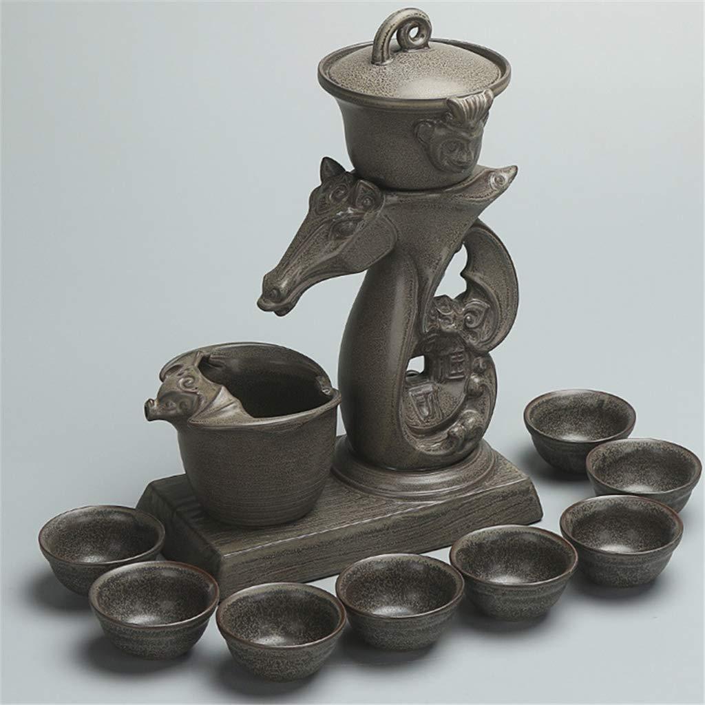 中国の怠惰な反火傷防止茶黒鉛個人的な家の陶磁器の自動カンフーの茶セットを動かす上限時間,B B07Q7SC1QW B